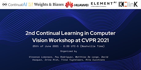 2nd Continual Learning in Computer Vision Workshop at CVPR 2021 tickets