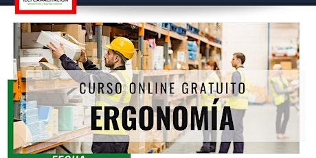 "Curso Online Gratuito ""Ergonomía"" entradas"