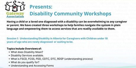 Session 1: Understanding Disability In Alberta tickets