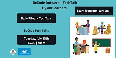 BeCode Antwerp – Tech Talks by Learners