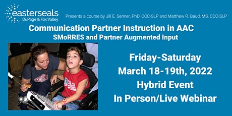 Communication Partner Instruction in AAC tickets