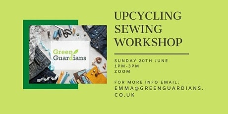 Upcycling sewing workshop tickets