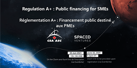 Webinar - Regulation A+ : Public Financing for Canadian SMEs and Start-Ups tickets