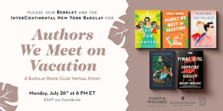 Barclay Book Club | Authors We Meet on Vacation tickets