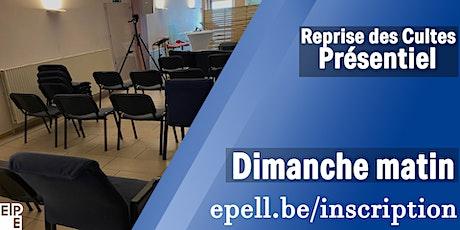 L'EPE La Louvière reprend de nouveau des cultes ouverts au public. billets