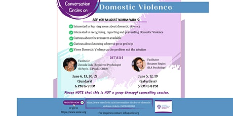 Conversation Circles on Domestic Violence tickets