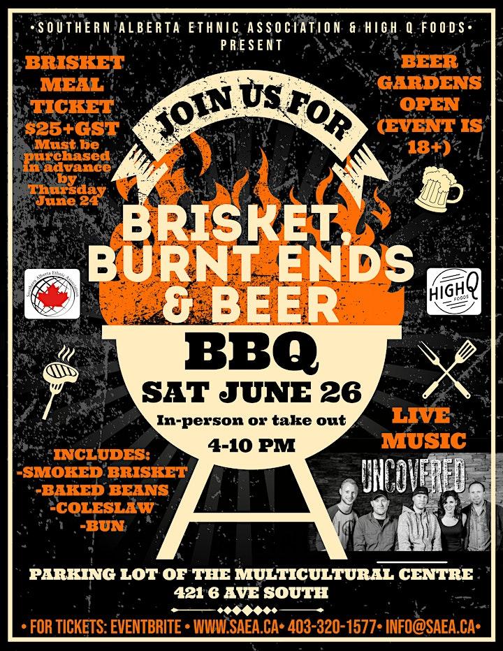 Brisket, Burnt Ends & Beer BBQ with live music image