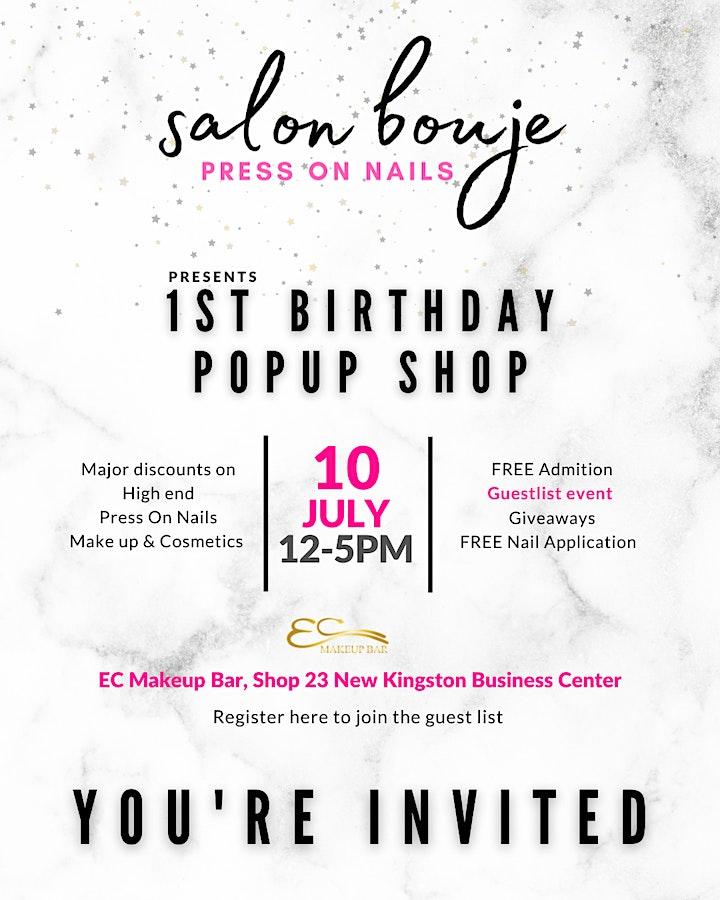 Salon Bouje Birthday Pop Up Shop image
