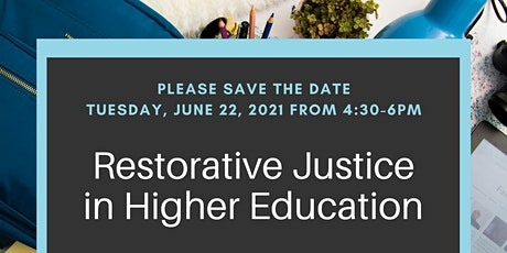 Restorative Justice in Higher Education tickets