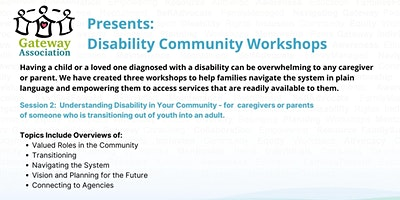 Session 2:  Understanding Disability in your Community
