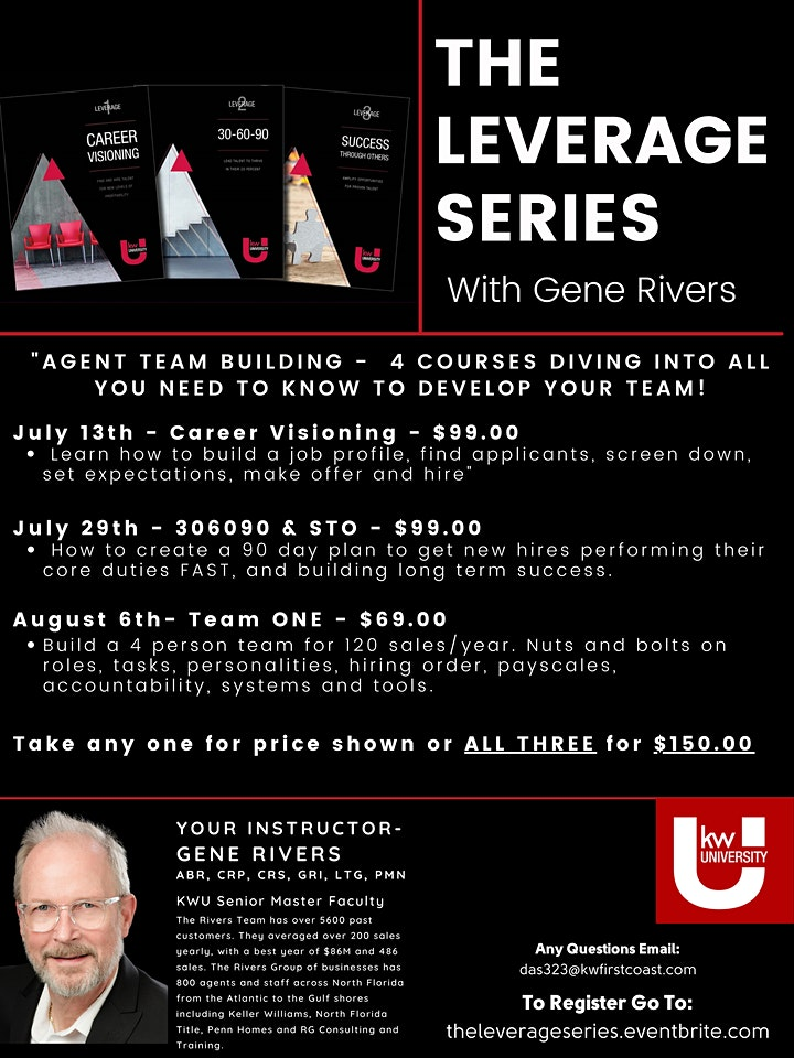 The Leverage Series with Gene Rivers image