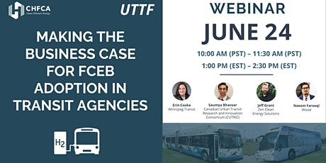 UTTF Webinar - The Business Case for FCEB Adoption in Transit Agencies tickets