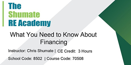 Zoom CE Class: What You Need to Know About Financing tickets