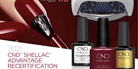 CND Shellac Recertification Digital Class tickets