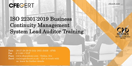 ISO 22301:2019  BCMS Lead Auditor Training tickets