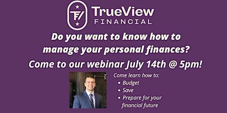Personal Finance Webinar biglietti