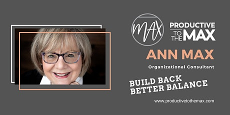 Build Back Better Balance: The Path to a New Normal - Organizational Change tickets