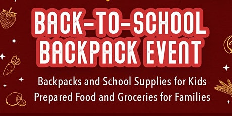 We need volunteers for our upcoming back-to-school event in Westminster! tickets