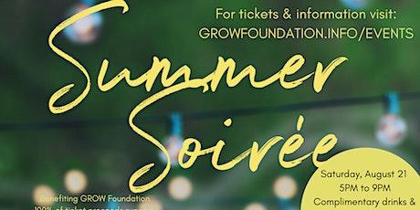 GROW Foundation Summer Soirée tickets