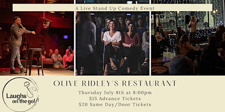 Laughs on the Go at Olive Ridley's; A Live Stand Up Comedy Event tickets