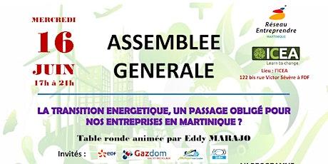 Assemblée Générale Elective de Réseau Entreprendre billets