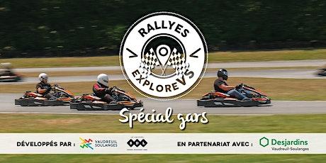 Rallye ExploreVS «Spécial gars» tickets