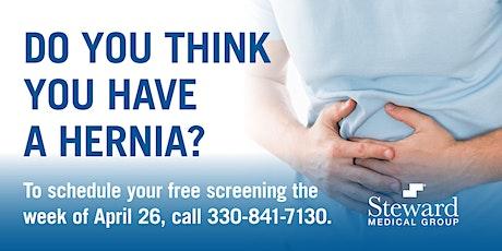 Steward Medical Group Free Hernia Screening tickets