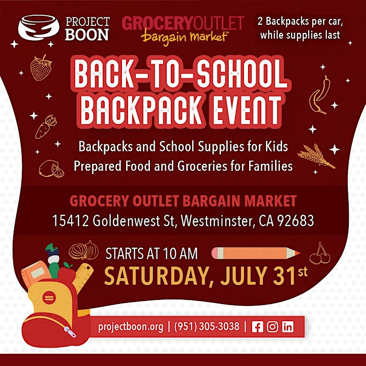 We need volunteers for our upcoming back-to-school event in Westminster! image
