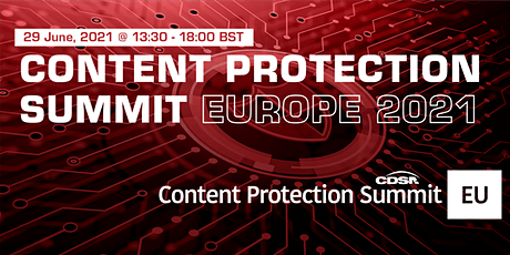 Content Protection Summit: EU tickets