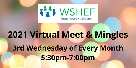 WSHEF Meet & Mingle via Zoom:   September 15th tickets