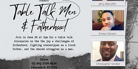 Table Talk : Men and Fatherhood tickets