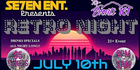 Se7ev Ent. presents Retro Night tickets