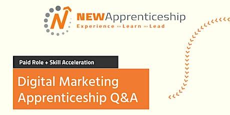 Digital Marketing Apprenticeship Q&A tickets