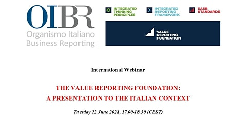 The Value Reporting Foundation: a presentation to the Italian context tickets