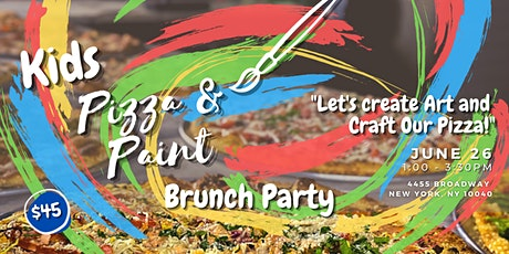 Kid's Pizza & Paint Brunch Party tickets