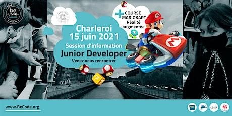 Atelier découverte Junior Developer BeCode Charleroi billets