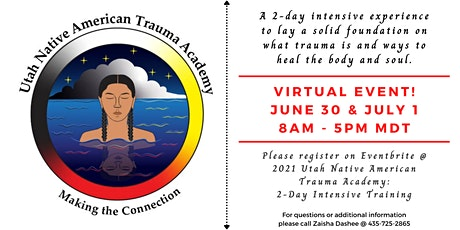 2021 Utah Native American Trauma Academy: 2-Day Intensive Training tickets