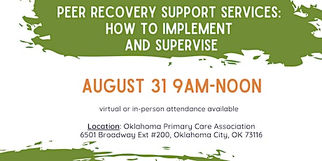 Peer Recovery Support Services Training tickets