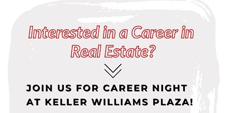 Real Estate Career Night - Keller Williams Plaza! tickets