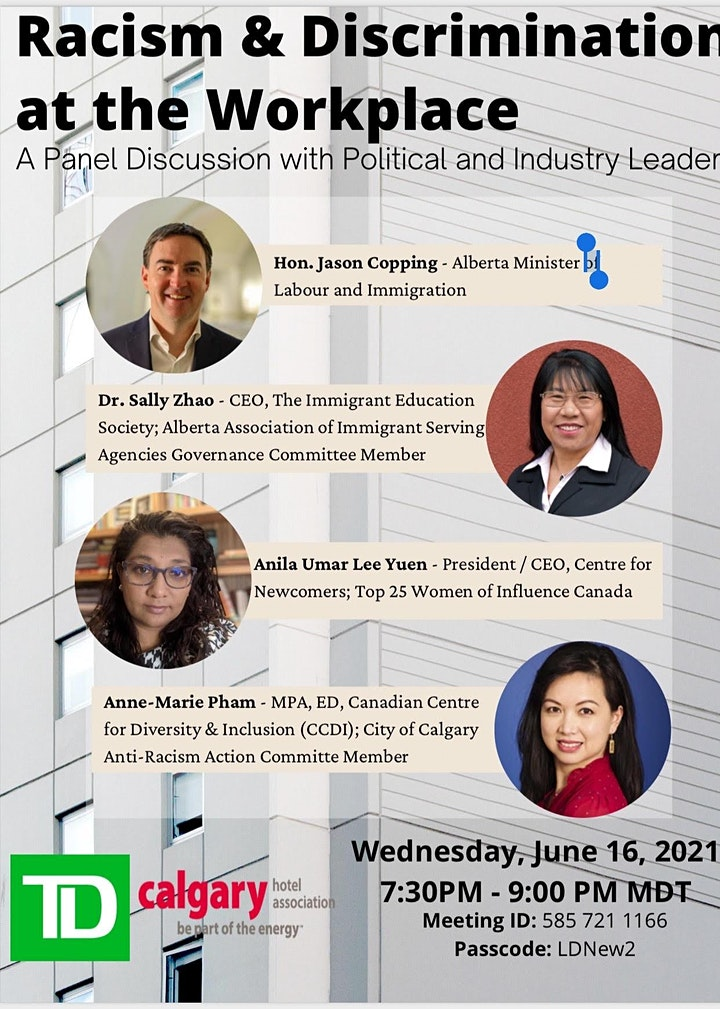 Racism & Discrimination at the Workplace: A Panel with Minister & Leaders image