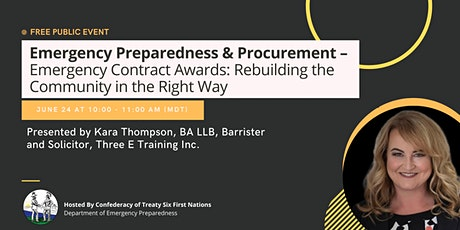 Emergency Preparedness and Procurement: Emergency Contract Awards tickets