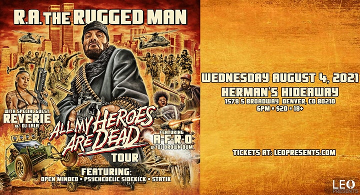 R.A. THE RUGGED MAN - ALL MY HEROES ARE DEAD TOUR image