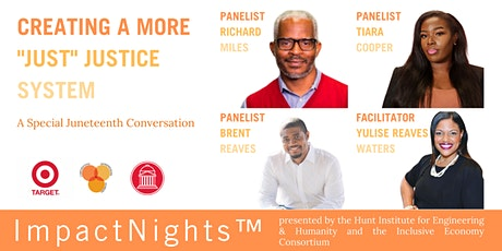 """Creating a More """"Just"""" Justice System: A Special Juneteenth Conversation tickets"""
