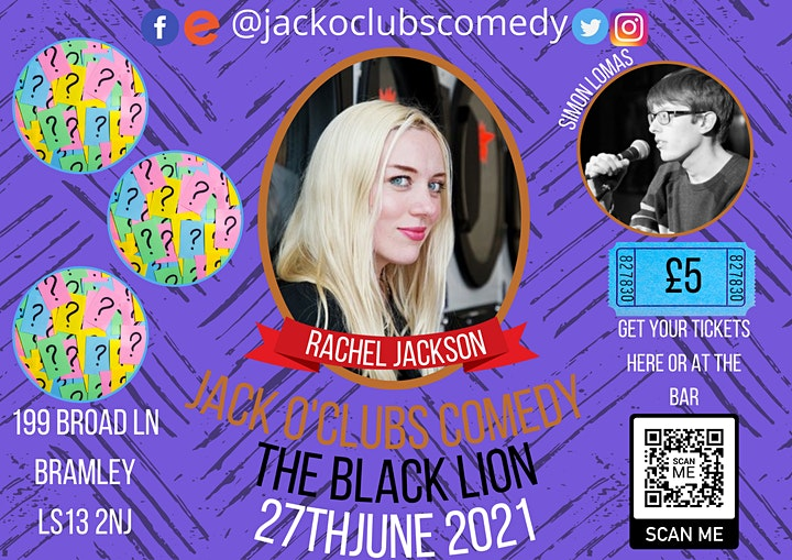 Jack O'Clubs Comedy Night at The Black Lion with Rachel Jackson image