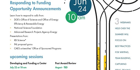 Responding to Funding Opportunity Announcements tickets