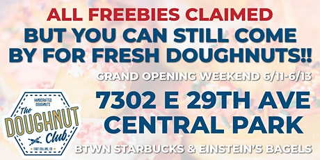 Denver - The Doughnut Club GRAND OPENING in Central Park tickets