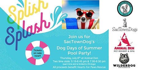 SacTownDogs Dog Days of Summer Pool Party tickets