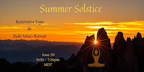 Summer Solstice Restorative Yoga and Reiki Mini-Retreat tickets