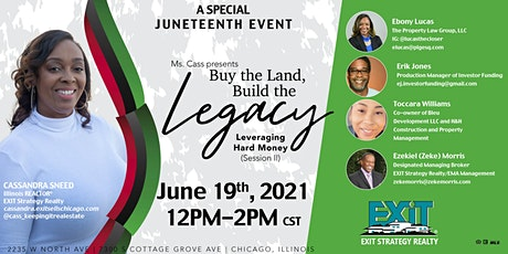 Buy the LAND, Build the LEGACY --- A Special Juneteenth  Virtual EVENT tickets