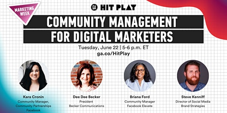 General Assembly | Community Management for Digital Marketers tickets